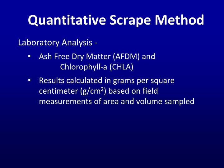 Quantitative Scrape
