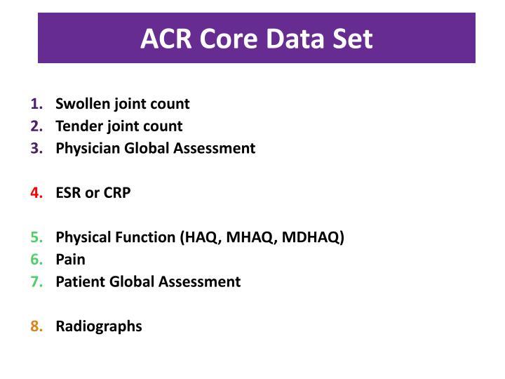 ACR Core Data Set