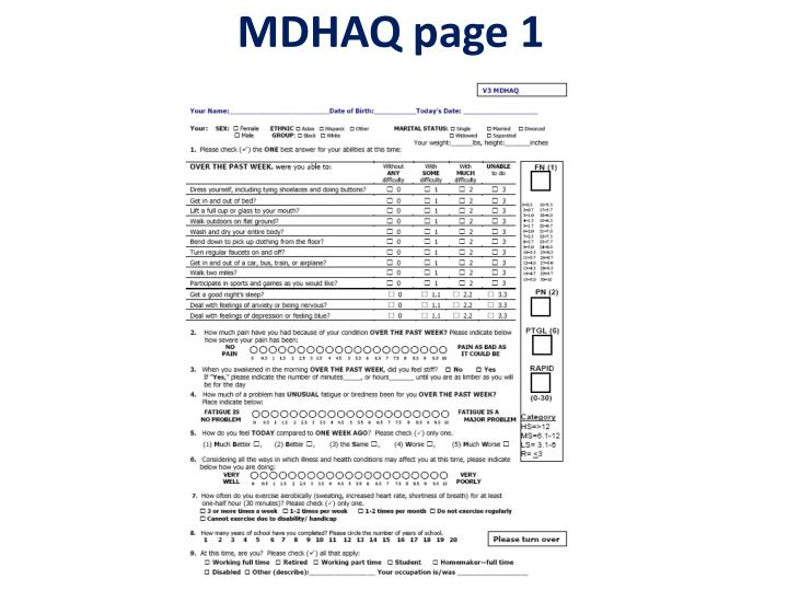 MDHAQ page 1