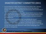 disaster district committee ddc