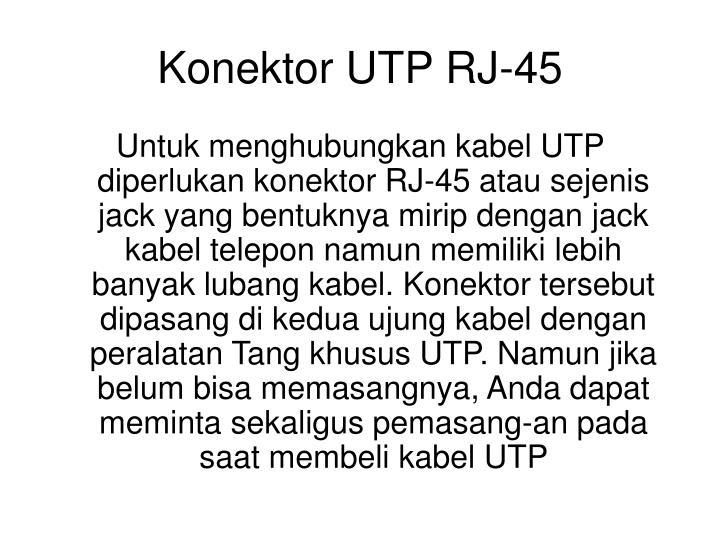Konektor UTP RJ-45