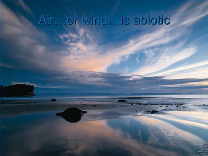 Air…or wind…is abiotic
