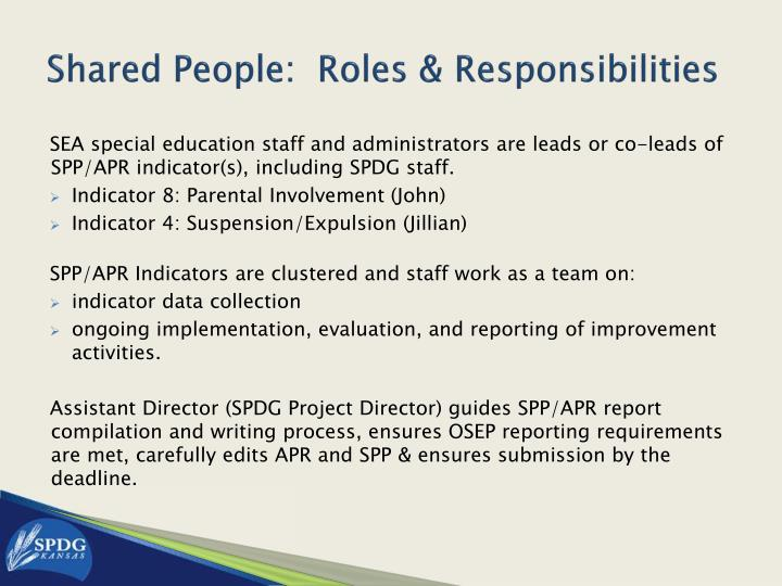 Shared People:  Roles & Responsibilities