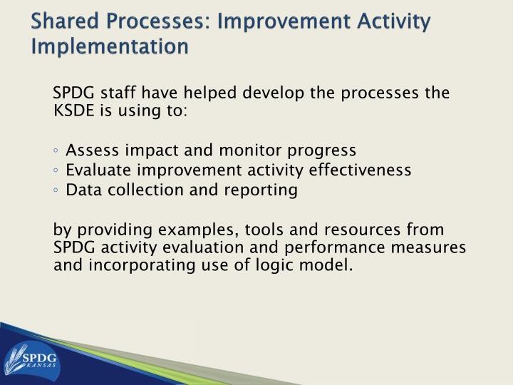Shared Processes: Improvement Activity Implementation