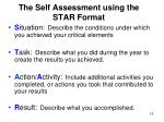 the self assessment using the star format