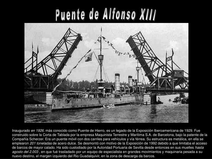 Puente de Alfonso XIII