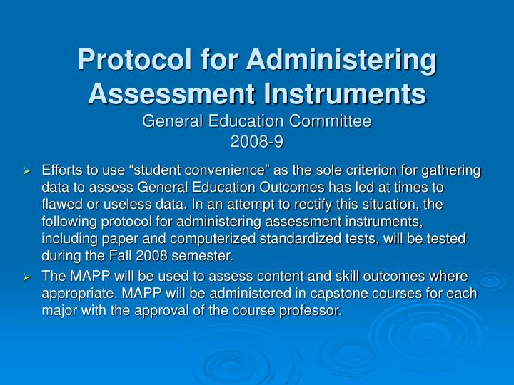 Protocol for Administering