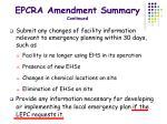 epcra amendment summary continued