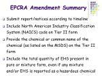 epcra amendment summary