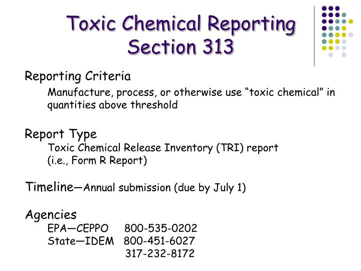 Toxic Chemical Reporting