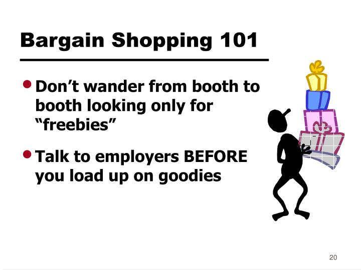 Bargain Shopping 101