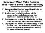 employer won t take resume tells you to send it electronically