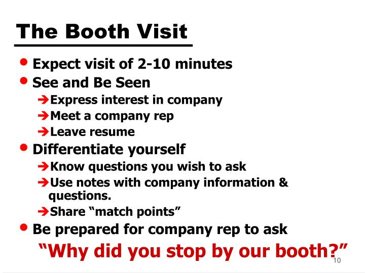 The Booth Visit