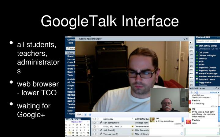 GoogleTalk Interface