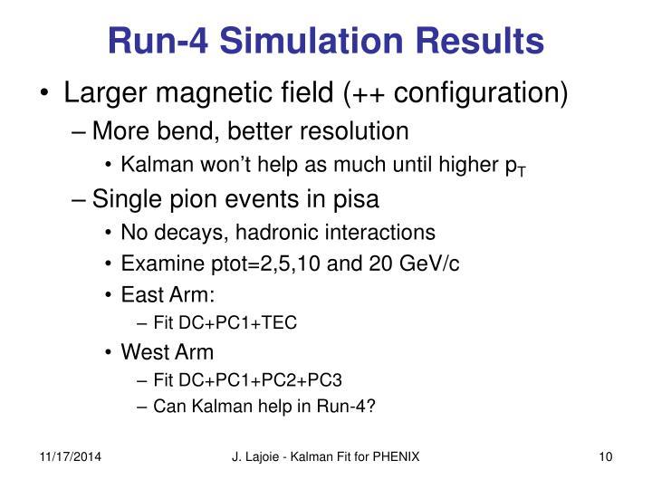 Run-4 Simulation Results
