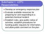 subchapter i lepc responsibilities