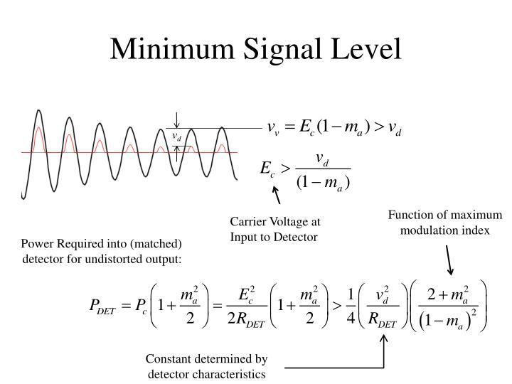 Minimum Signal Level