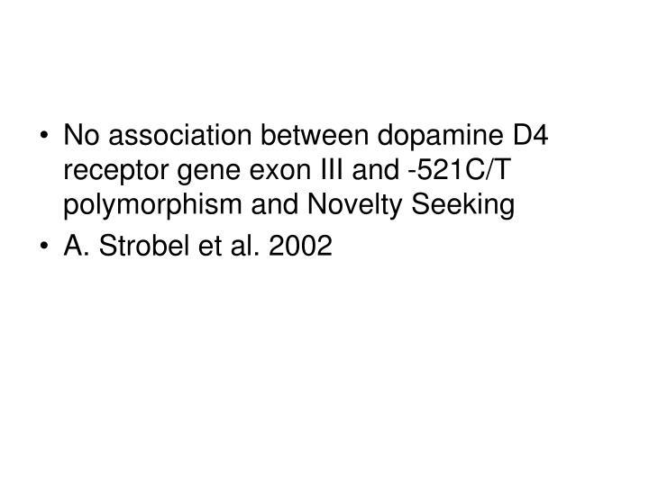 No association between dopamine D4 receptor gene exon III and -521C/T polymorphism and Novelty Seeking