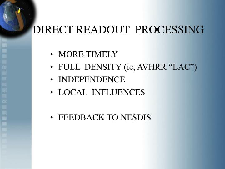 DIRECT READOUT  PROCESSING