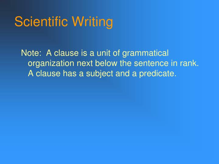 Scientific writing1