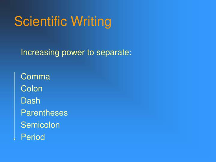 Scientific writing2