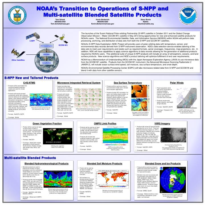 NOAA's Transition to Operations of S-NPP and Multi-satellite Blended Satellite Products