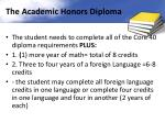 the academic honors diploma