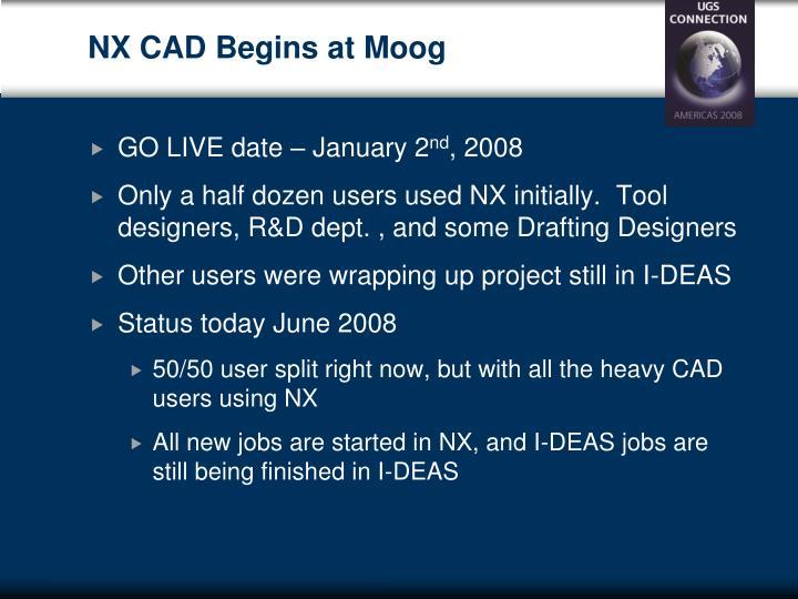 NX CAD Begins at Moog