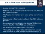 tce in production use with i deas