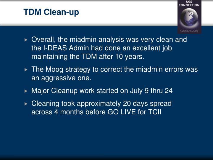 TDM Clean-up