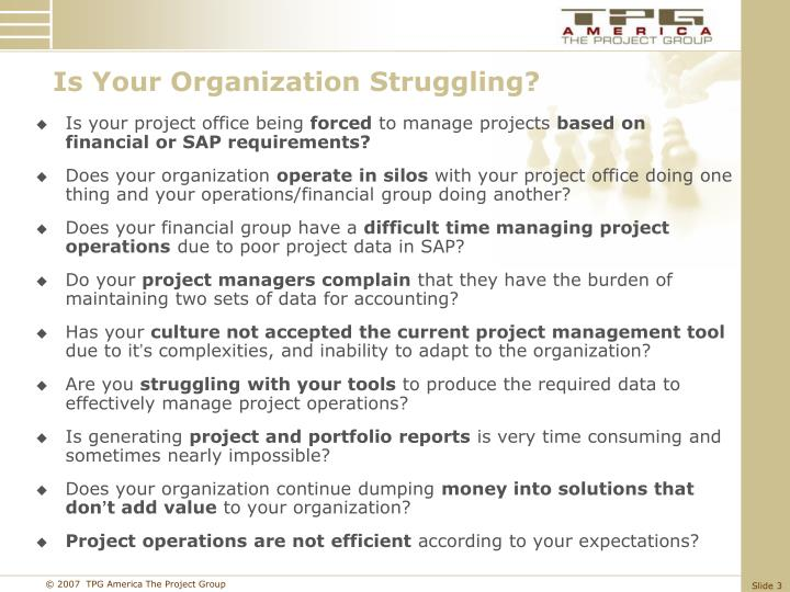 Is Your Organization Struggling?