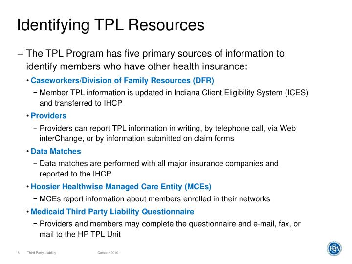 Identifying TPL Resources