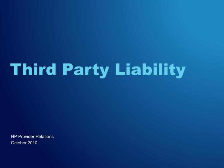 third party liability