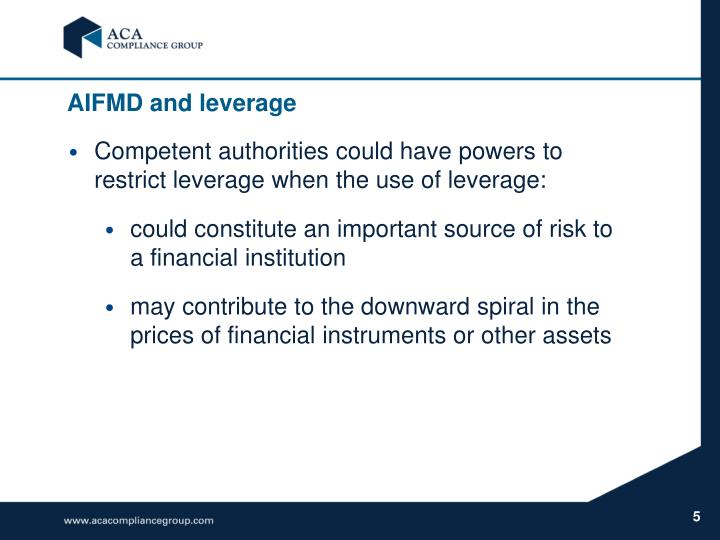 AIFMD and leverage