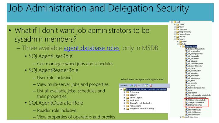 Job Administration and Delegation Security