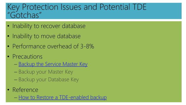 Key Protection Issues