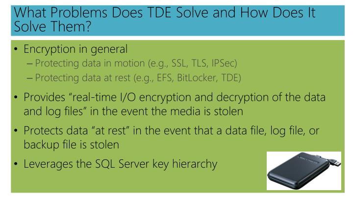 What Problems Does TDE Solve and How Does