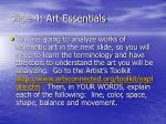 slide 4 art essentials