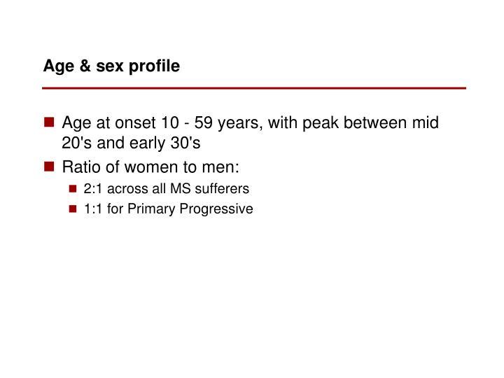 Age & sex profile