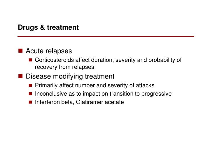 Drugs & treatment