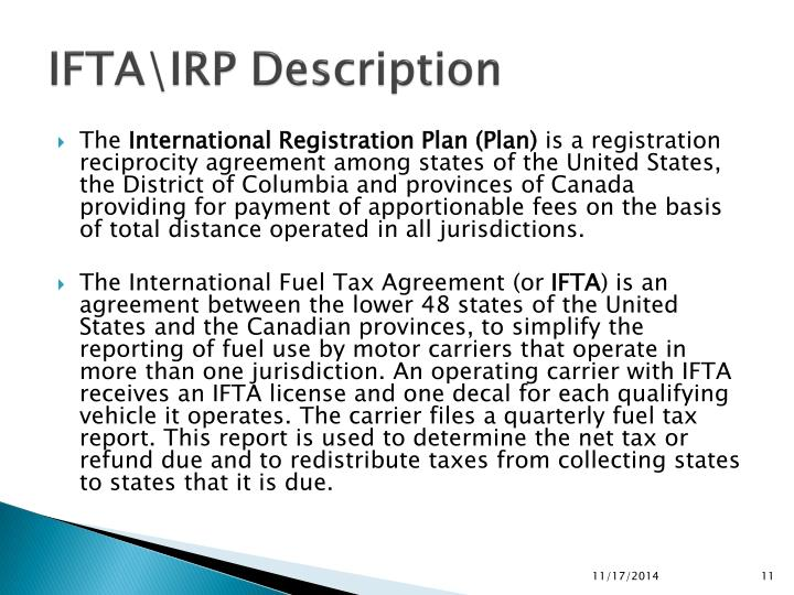 IFTA\IRP Description