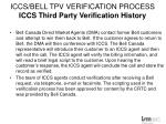 iccs bell tpv verification process iccs third party verification history1