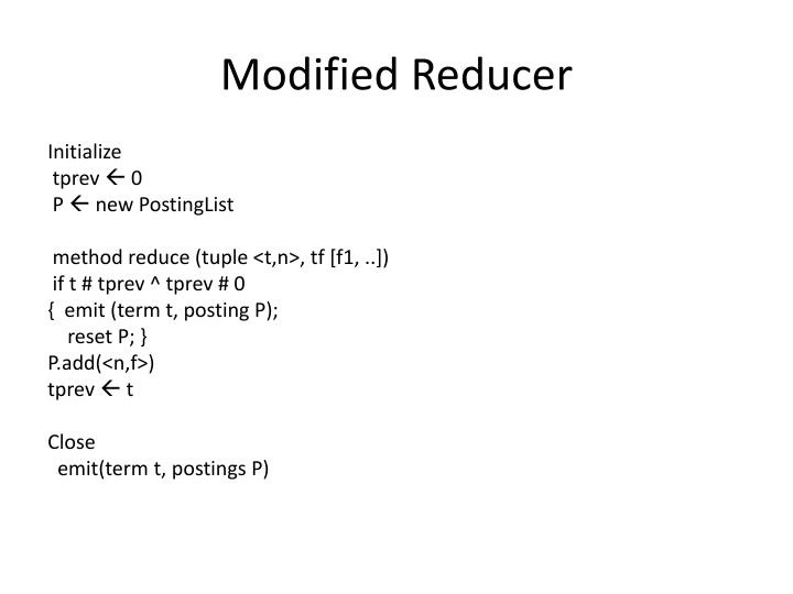 Modified Reducer