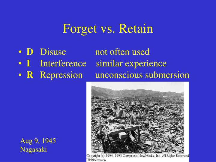 Forget vs. Retain