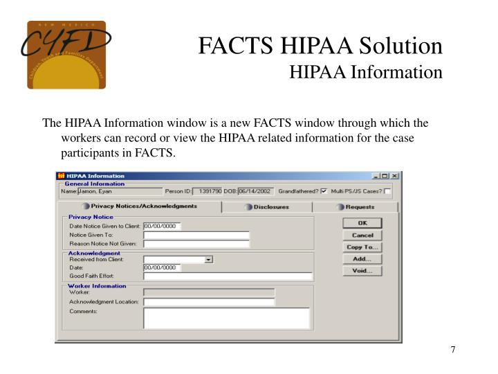 FACTS HIPAA Solution