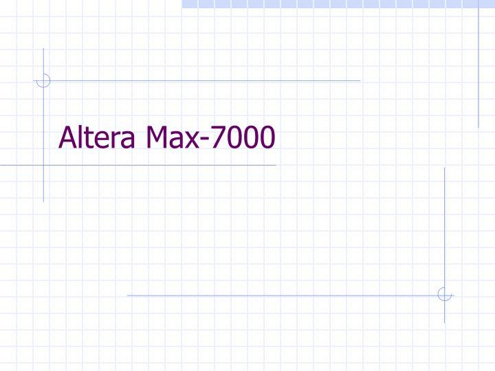Altera Max-7000