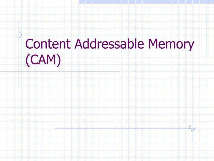 Content Addressable Memory (CAM)