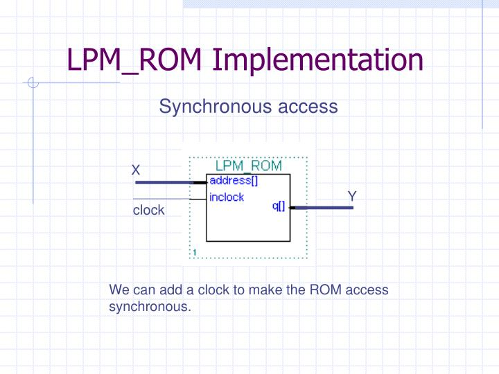 LPM_ROM Implementation
