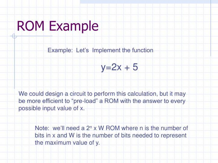 ROM Example