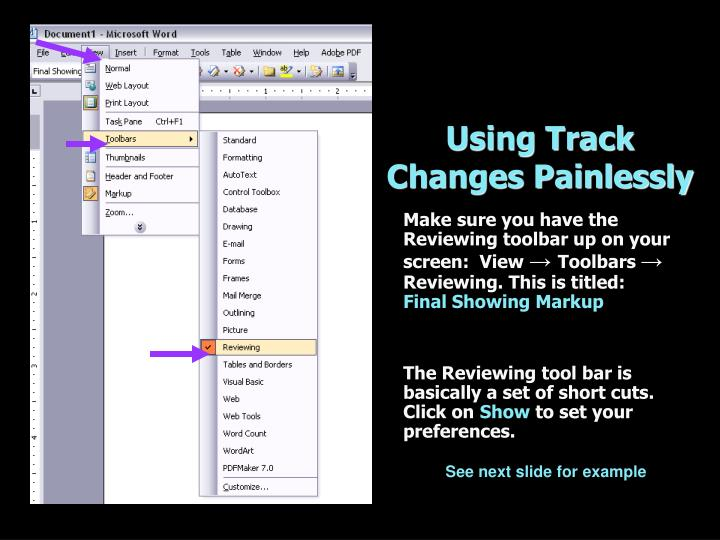 Using Track Changes Painlessly